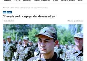 """Ermənistan mətbuatı Sərdar Ortacı Qarabağda """"öldürdü"""""""