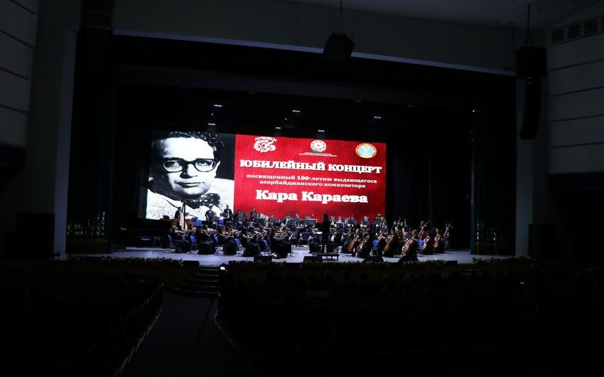 Astanada Qara Qarayevin 100 illiyinə həsr olunan yubiley gecəsi keçirilib