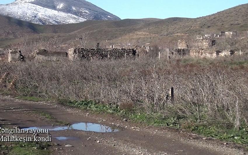Zəngilan rayonunun Malatkeşin kəndindən videogörüntülər