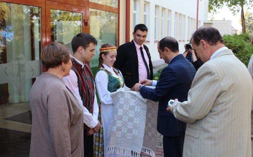 Azerbaijani ambassador to Lithuania visits Ukmerge city