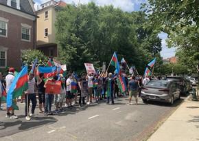 ABŞ-da erməni təxribatlarına qarşı etirazlar davam edir