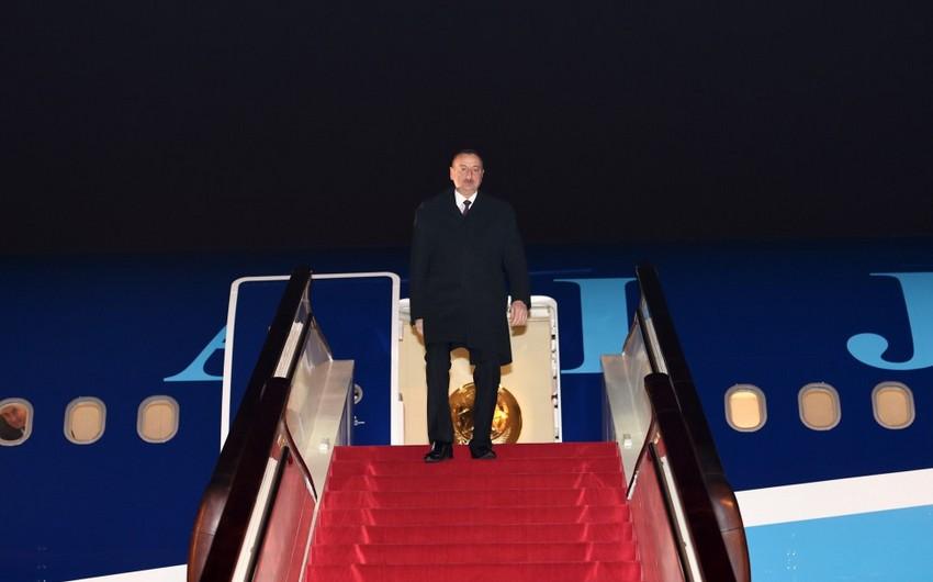 Президент Азербайджана прибыл в столицу Китая