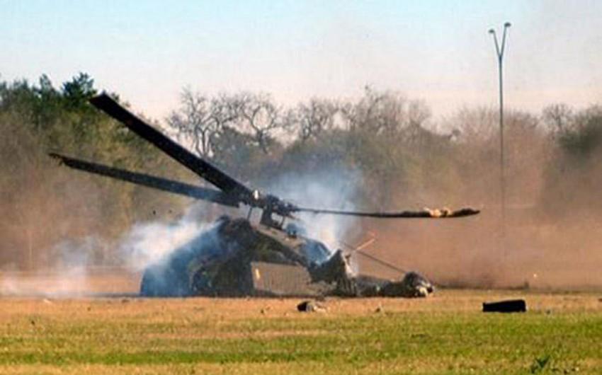Əfqanıstanda hərbi helikopter qəzaya uğrayıb