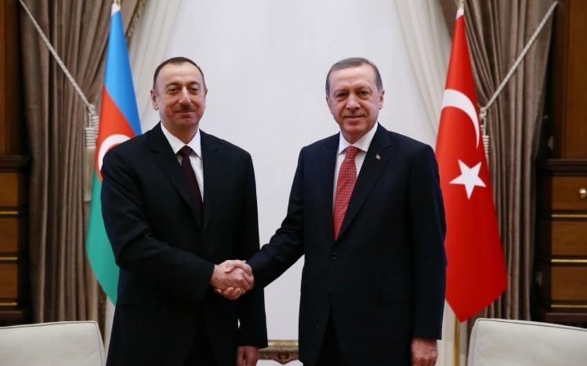 Ərdoğan Prezident İlham Əliyevi təbrik edib