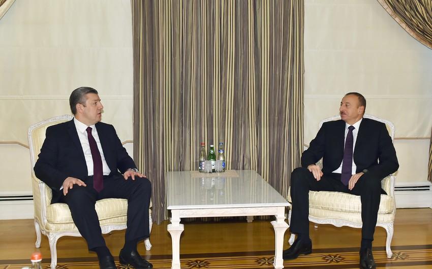 Gürcüstanın Baş naziri Azərbaycan Prezidentinə telefonla zəng edib