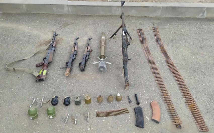 В Ходжалы обнаружены оружие и боеприпасы