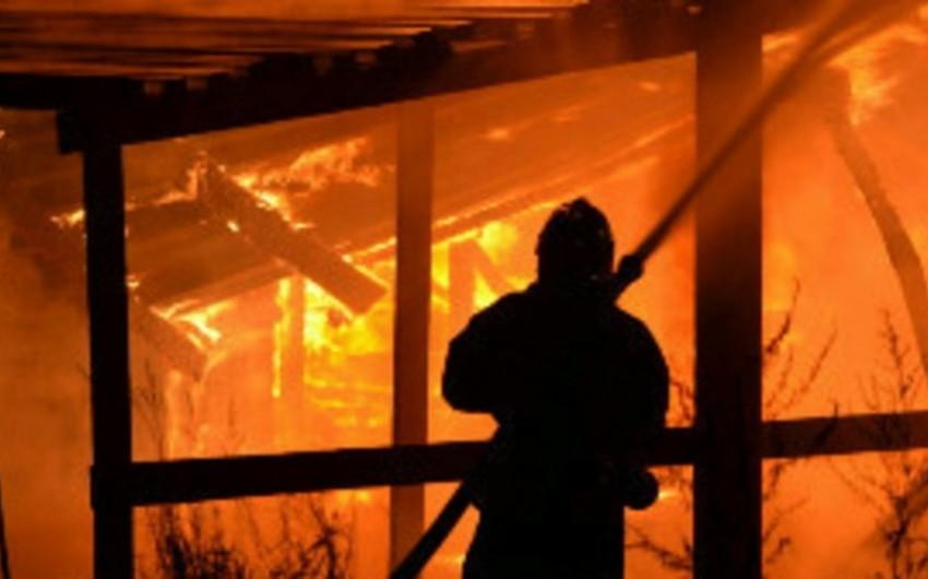 Paytaxtda 5 otaqlı ev yanıb, xəsarət alan olmayıb