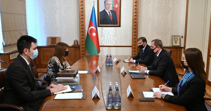 Ceyhun BayramovBeynəlxalq Türk Mədəniyyəti və İrsi Fondunun prezidenti ilə görüşüb