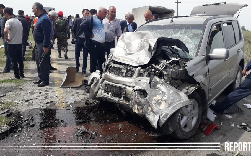 Kürdəmirdəki yol qəzasında ölənlərin sayı 6-ya çatdı - VİDEO - YENİLƏNİB-3