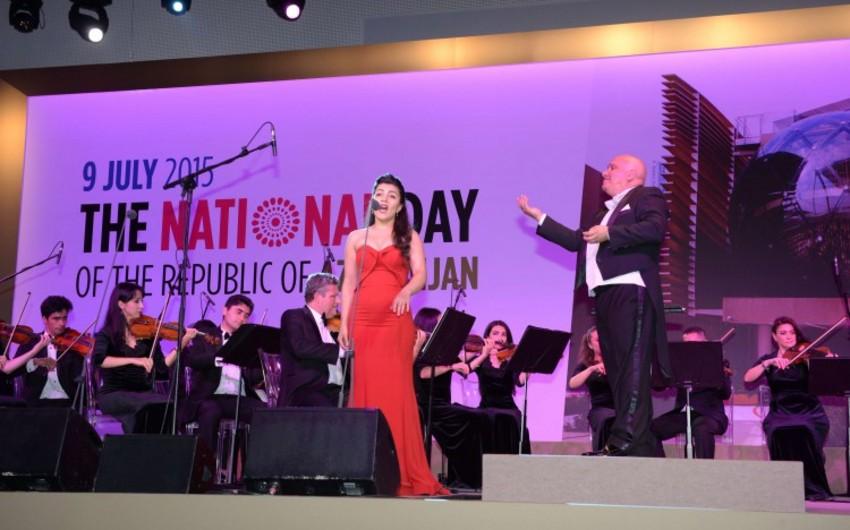 """Heydər Əliyev Fondu """"Milan Expo 2015""""də Azərbaycan """"Milli gün""""ü çərçivəsində konsert proqramı təşkil edib"""