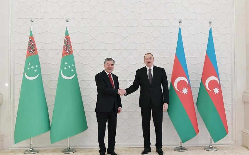 Azərbaycan və Türkmənistan prezidentləri  -