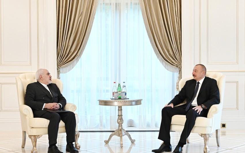 Prezident İlham Əliyev İranın xarici işlər nazirini qəbul edib - YENİLƏNİB