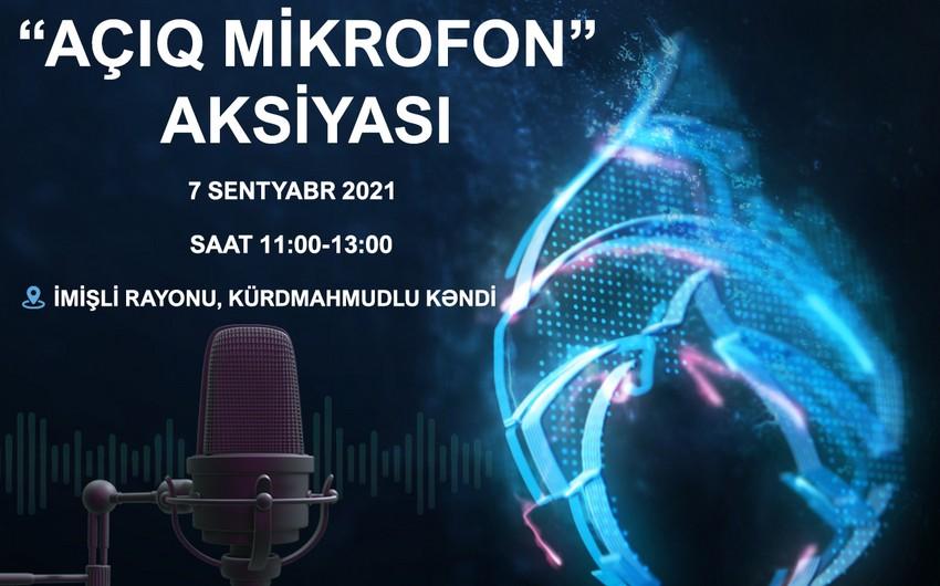 """Azəriqaz""""ın növbəti """"Açıq mikrofon""""u İmişlidə olacaq"""