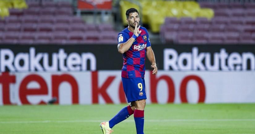 Луис Суарес попрощался с игроками Барселоны
