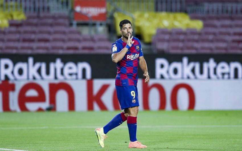 """Luis Suares """"Barselona"""" ilə vidalaşdı"""