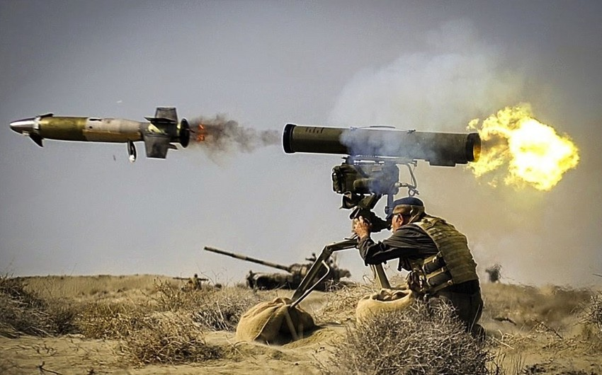 Positions of Azerbaijani Army subjected to fire by large-caliber machine guns, sniper rifles