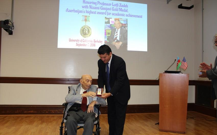 Azerbaijani professor of UC, Berkeley Lotfi Zadeh honored with Nizami Ganjavi Gold Medal of Azerbaijan