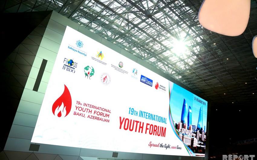 Bakıda XIX Beynəlxalq Gənclər Forumu keçirilir - YENİLƏNİB