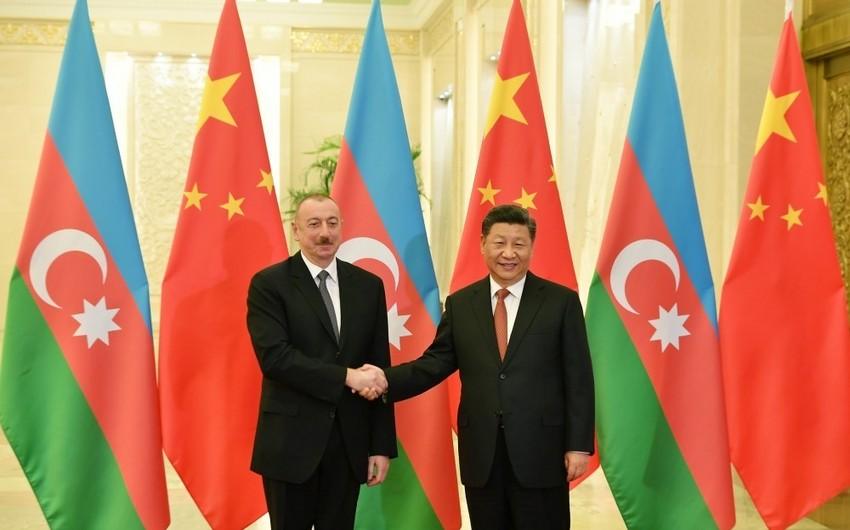 """Azərbaycan Prezidenti: """"Bu gün Çinlə siyasi münasibətlərimiz yüksək səviyyədədir"""""""