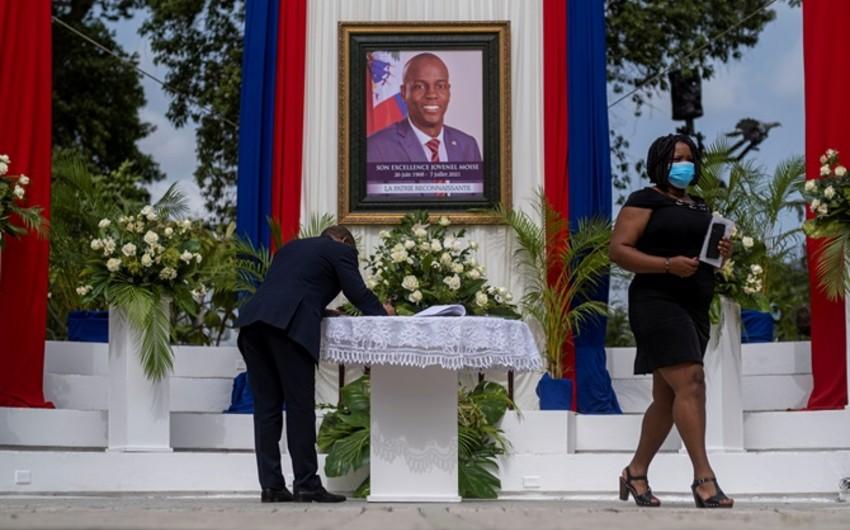 Haitinin öldürülən prezidenti dəfn edilib - FOTO