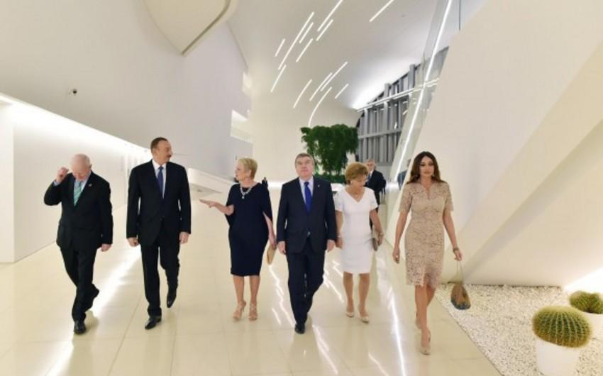 Azərbaycan Prezidenti və xanımı Avropa Olimpiya Komitəsinin 43-cü Baş Assambleyasının iştirakçılarının şərəfinə verilən ziyafətdə iştirak ediblər