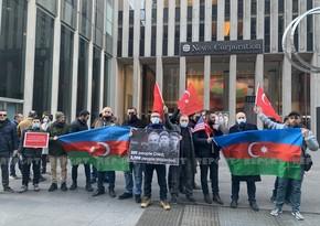 В США азербайджанские и турецкие общины провели акцию протеста