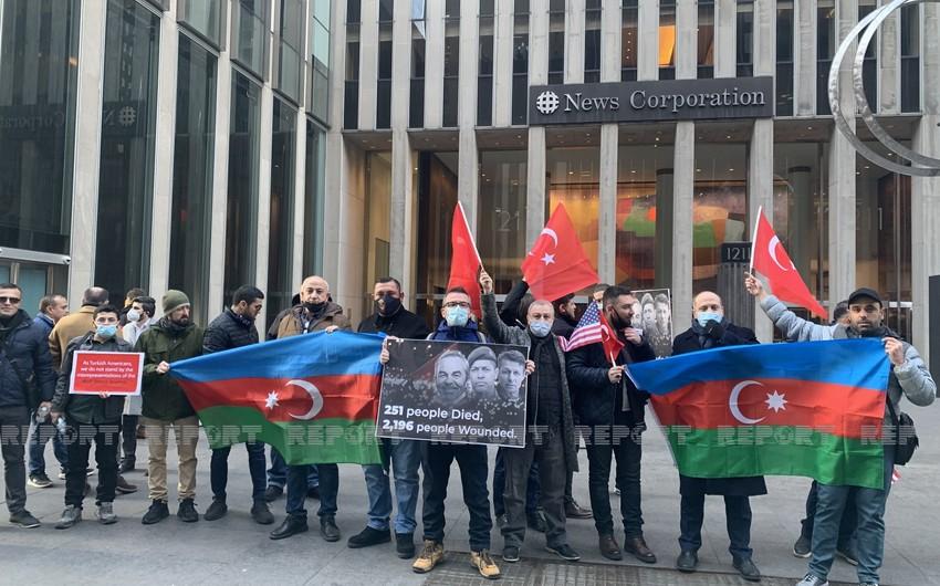 Azərbaycan və Türkiyə icmaları ABŞ-da birgə etiraz aksiyası keçirdilər
