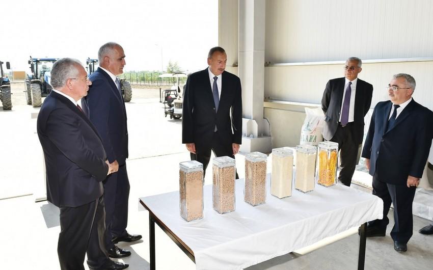 Prezident İlham Əliyev Yalama Aqroparkının açılışında iştirak edib