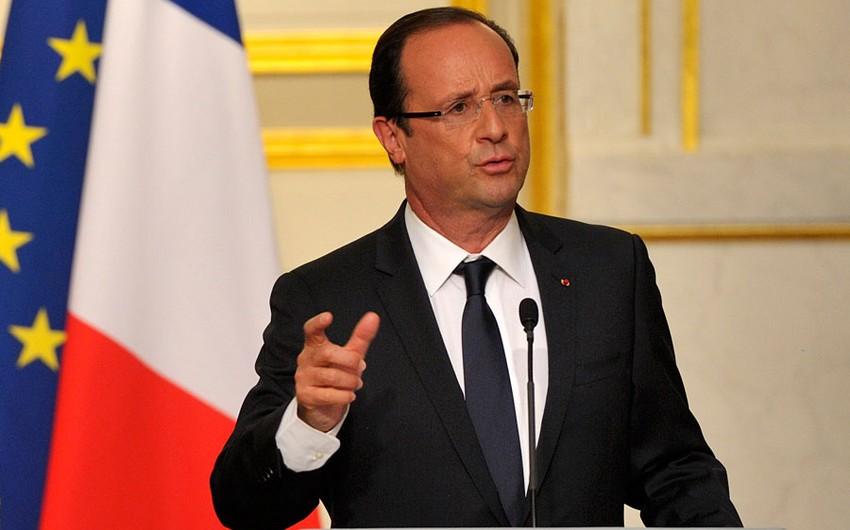 Fransa prezidenti səfərini yarımçıq kəsib