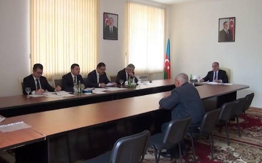 Prezident Administrasiyasının işçiləri Göyçay sakinləri ilə görüşüb - VİDEO