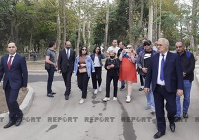 Georgian journalists visit Ganja