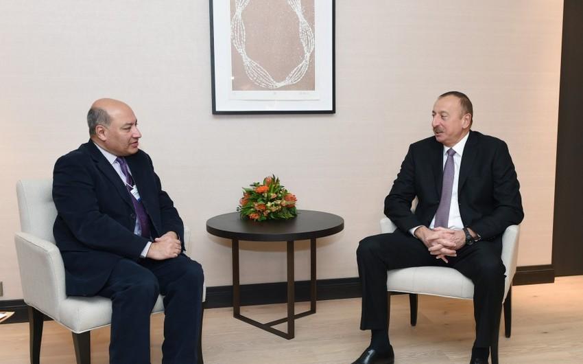 Prezident İlham Əliyev Davosda Avropa Yenidənqurma və İnkişaf Bankının prezidenti ilə görüşüb - YENİLƏNİB