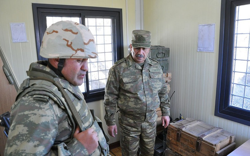 Azerbaijan's Defense Minister visits liberated territories in Nakhchivan direction