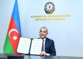 İqtisadiyyat Nazirliyi ilə NEXI arasında Anlaşma Memorandumu imzalanıb
