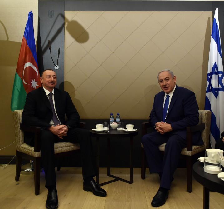 Azərbaycan Prezidenti İsrailin baş naziri ilə görüşüb