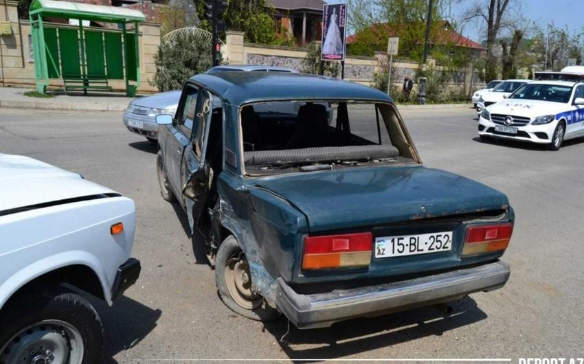 Cəlilabadda zəncirvari qəza, üç avtomobilə ziyan dəydi