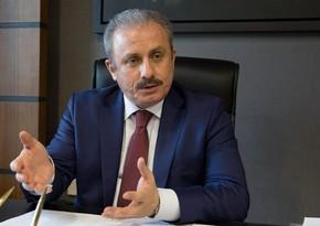 Глава парламента Турции выступит в Милли Меджлисе сегодня