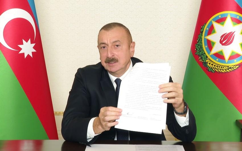 Prezident: Paşinyan, harada imzalamısan sən bu kapitulyasiya aktını?