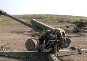 Military equipment left by Armenian forces on battlefield while fleeing