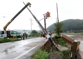 Cənubi Koreyada sel və torpaq sürüşməsi 6 nəfəri öldürüb