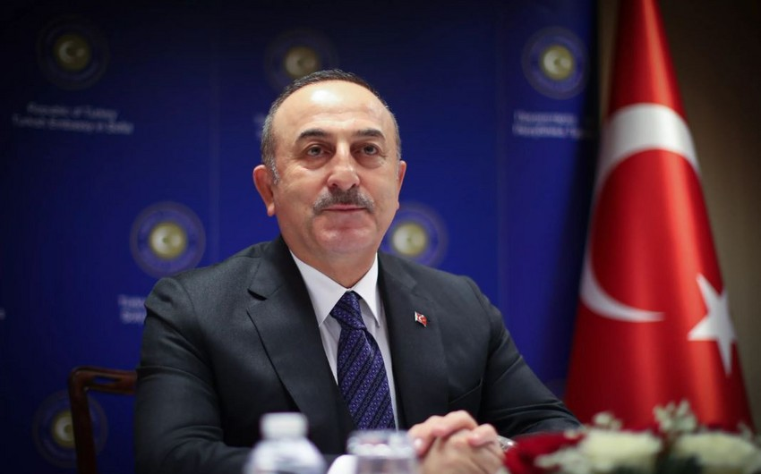 """Mövlud Çavuşoğlu: """"Qarabağ münaqişəsinin həll edilməməsindən narahatıq"""" - VİDEO"""