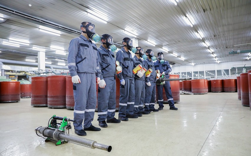 Fumiqasiya Mərkəzi 2,7 milyon kubmetrdən artıq istehsal və saxlanma yerləri zərərsizləşdirib