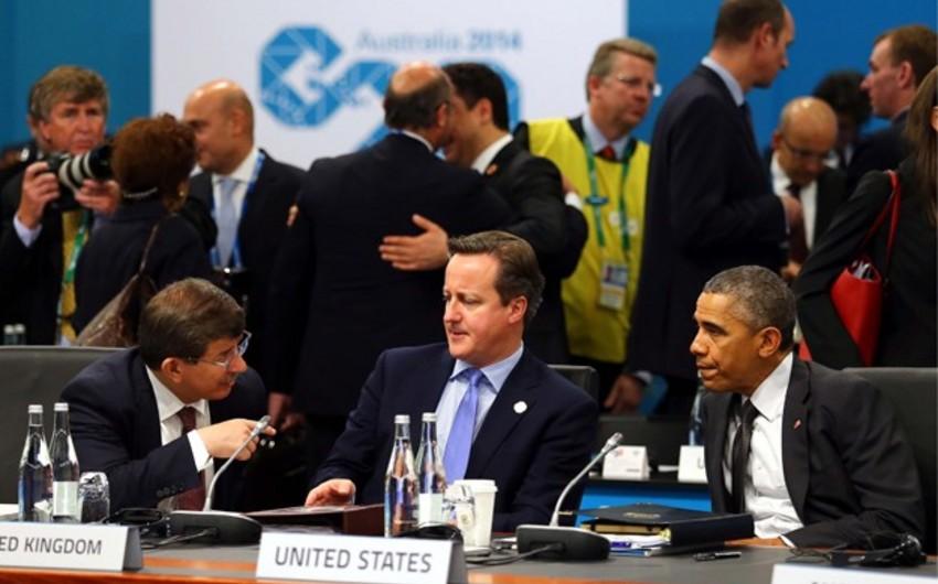 Davudoğlu Barak Obama ilə Suriya və İraq məsələsini müzakirə edib