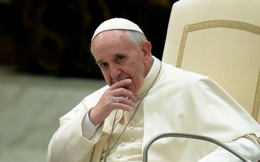 Roma papası Qafqazda mövcud münaqişələrin həllinə çağırıb