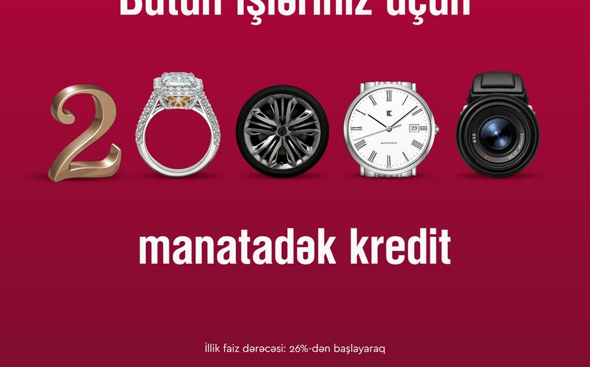 """""""Kapital Bank"""" müştərilərə 20 min manatadək kredit təklif edir"""