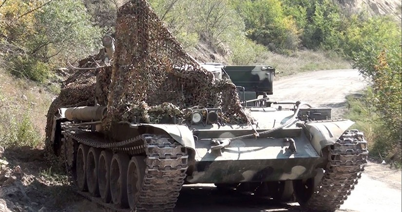 Video recording of abandoned enemy equipment in Gubadli direction