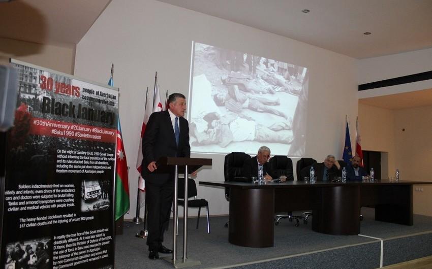 Gürcüstanda 20 Yanvar faciəsi anılıb