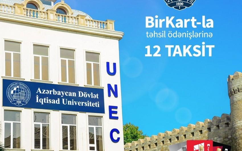 UNEC-də təhsil haqqını BirKartla hissə-hissə ödəmək mümkün olub