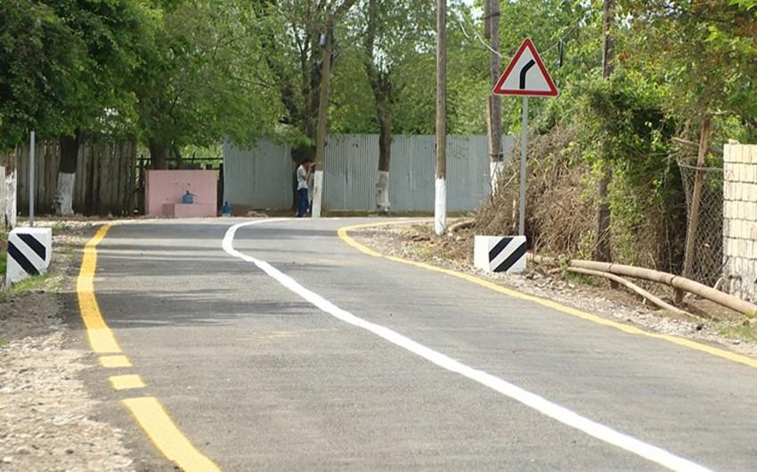 Biləsuvar rayonunun Əliabad kəndinin yolu yenidən qurulub - VİDEO