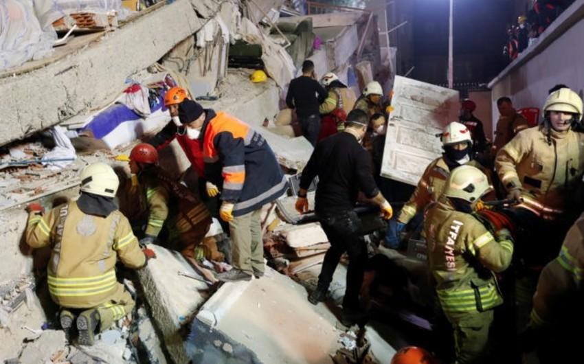 İstanbulda yaşayış binasının uçması nəticəsində ölənlərin sayı 21 nəfərə çatıb - YENİLƏNİB